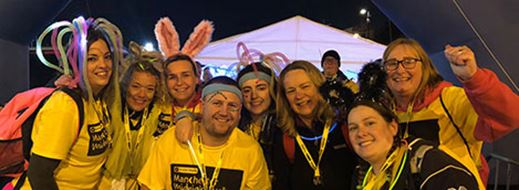 MyCSP employees walk through the night for St. Ann's Hospice